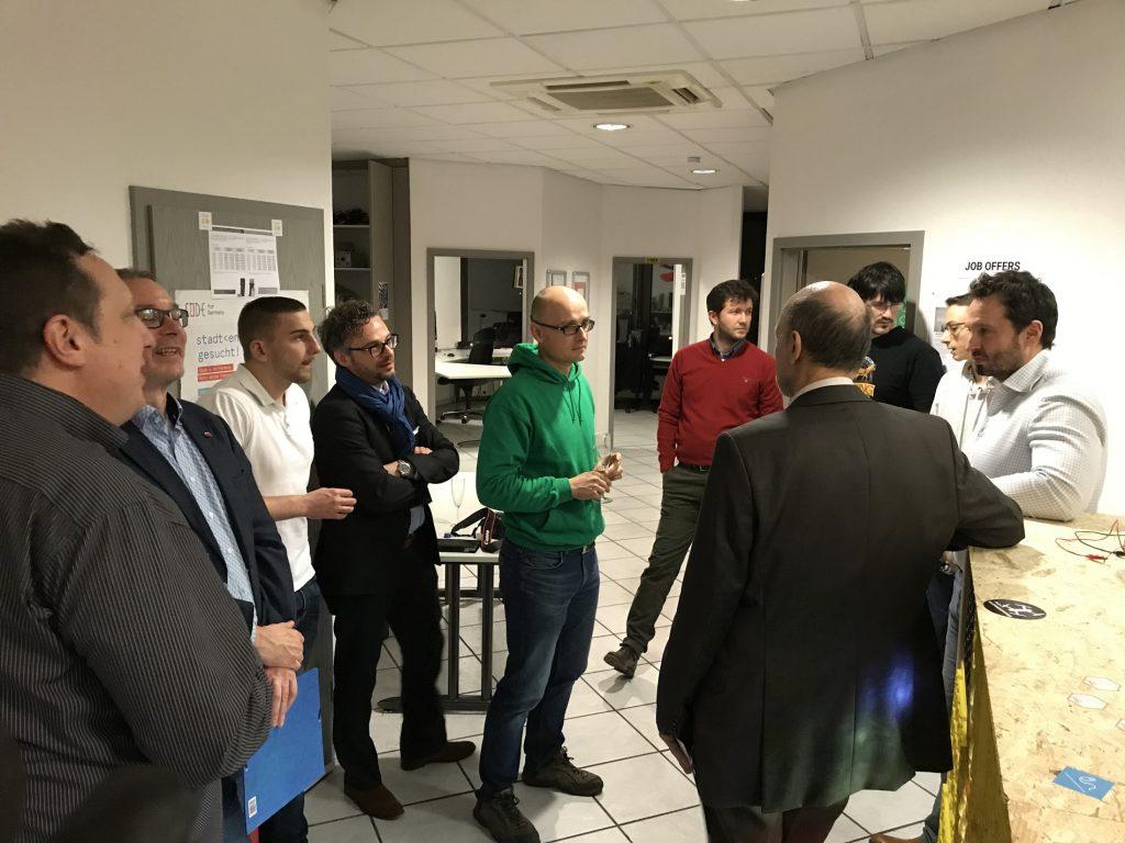 Gespräche mit den Vertretern der Dieter-Schwarz-Stiftung über das FabLab in Heilbronn